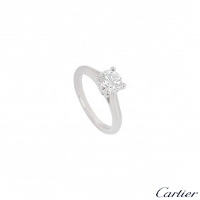 Cartier Platinum Diamond 1895 Solitaire Ring 1.06ct E/VVS1 XXX